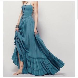 Free people blue maxi dress
